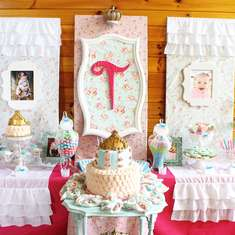 Shabby Chic Baby Princess 1st Birthday Party - Princess