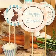 Chocolate Bunny Easter Tablescape - Farm Stand /Farm/Country