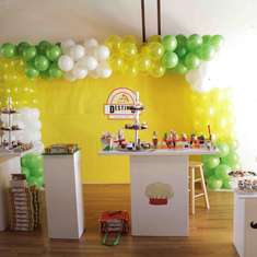 Pizza Chef Firetruck Birthday Party - Make Your Own Pizza- Kids Pizza Party