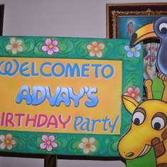 Advay's 2nd Birthday - Jungle Theme