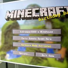 Minecraft Birthday Bash - MineCraft