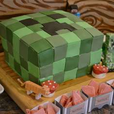 "Minecraft inspired Birthday party - Mining, video games ""Minecraft"""
