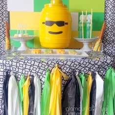 Lime Green & Yellow Lego Inspired Theme - Lego theme