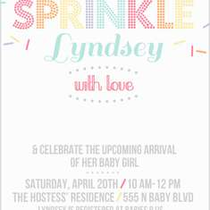 Sprinkle with Love Baby Shower - Sprinkles
