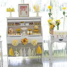 Yellow Vintage Baby Shower - Vintage