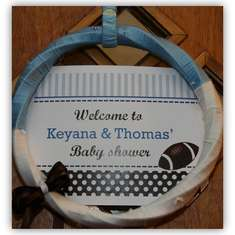 Football Baby Shower - A Little Kicker Is On His Way!