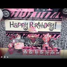 Adi's 2nd Birthday - Zebra & Hot Pink