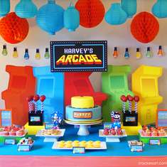 Arcade Themed 6th Birthday Party - Arcade Games