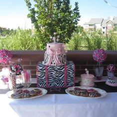 Kylie's First Birthday  - Hot Pink with Zebra Print