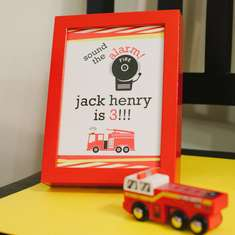 Sound the Alarm- Jack Henry is 3! - Firetruck, Fire Engine