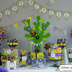 Madeline's Purple and Yellow Monkey Birthday Party - Monkey's