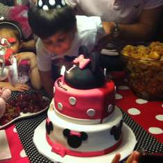 Yianni and Nikolettas birthdays - Minnie and Mickey Mouse