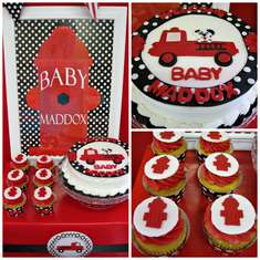 Fireman Baby Shower - Firetrucks and Dalmatians