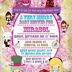 Alice in Wonderland Baby shower Party for Mirasol - Alice In Wonderland   Mad Tea Party