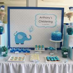 Blue Elephant Baptism - Anthony  - Elephant