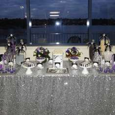 Erin's 21st Birthday - Purple, Black, White and Silver