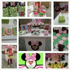 1st Birthday Minnie Mouse - Minnie Mouse and Zebra Print