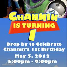 Channin's First Birthday - Toy Story