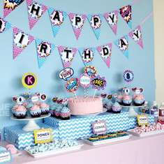 Super Girl Birthday Party - Superhero