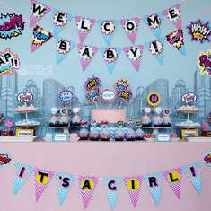 Super Girl Baby Shower - Super Heroes