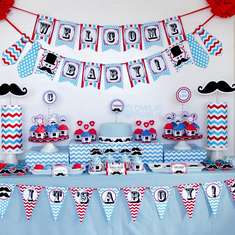 Little Man Mustache Baby Shower - Little Man Mustache Bash