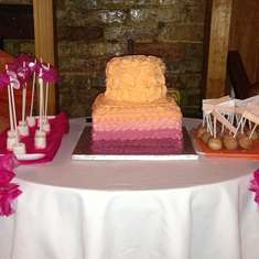 Jeanine's Birthday Dinner - Pink & Orange Monogram