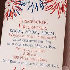 "Firecracker ""4th"" Birthday - Patriotic"