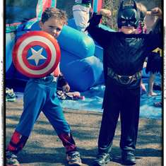 Robbie's Super Hero party - Super Heros