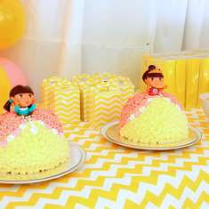 Dora Party-Yellow,Pink and White. - Pretty Dora Party-Yellow, Pink and White.