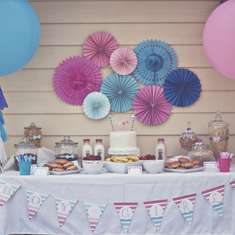 Pink & Blue Ombre Gender Reveal - Gender Reveal Party