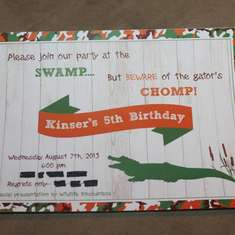 Kinser's 5th Birthday - Alligator/Swamp