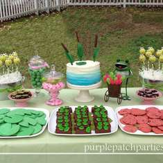 Frog Birthday Party - Frogs