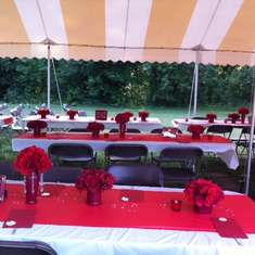 Dolores & Isaac's Reception - Red & White