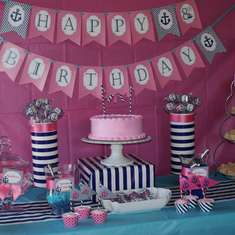 Leilani's 8th Birthday - Preppy Nautical Birthday Party