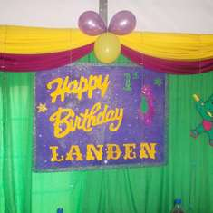 Landen`s 1st birthday - Barney the Dinosaur