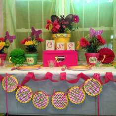 Butterfly Garden Party Mock Set Up - Butterfly Garden