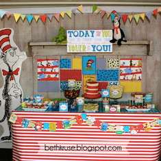 ben's 4th birthday - Dr. Seuss