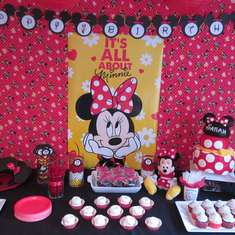 Sarah's 4th Birthday - Minnie Mouse Party (red) - Minnie Mouse - Red