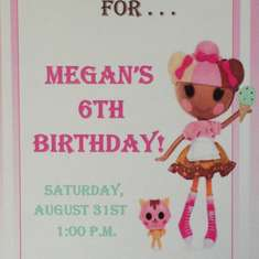 Megan's 6th Birthday! - Lalaloopsy Scoops Waffle Cone/Ice Cream Shoppe