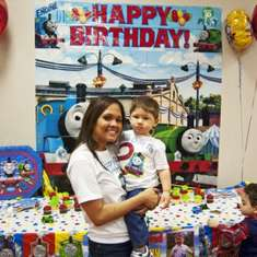 2nd birthday with Thomas the Train - Thomas the Train party
