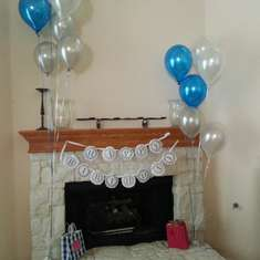 Vella's Surprise Birthday Party - Blue and white