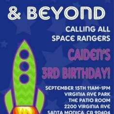 Buzz Lightyear/Space Ranger Birthday Party - rocket/space