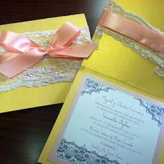 Samantha's Baptism - Peach & Gold