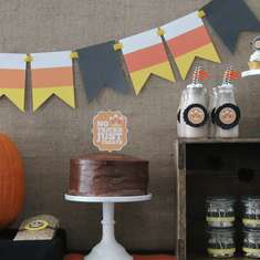 Budget Friendly Halloween Party - Candy Corn
