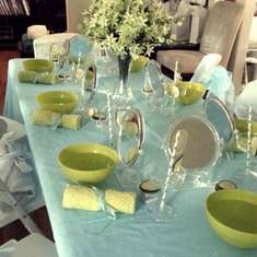 Aqua and Lime Spa Party - Spa Party
