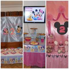 2ND BIRTHDAY - BABY DISNEY- MINNIE AND MICKEY MOUSE