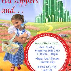 "Wizard of Oz Birthday Party ""Wash & Brush Up Co."" - Wizard of Oz"