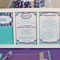 Purple & Aqua Carnival Baby Girl Shower - Vintage Carnival