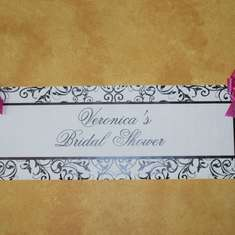 Veronica's Bridal Shower - Pink and Black Damask