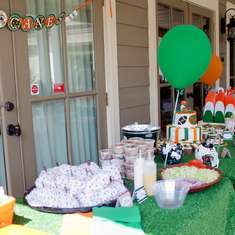 Miami Hurricanes Football Pool Party (Food/Dessert Tables) - Football